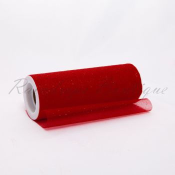 Red Sparkle Organza Roll